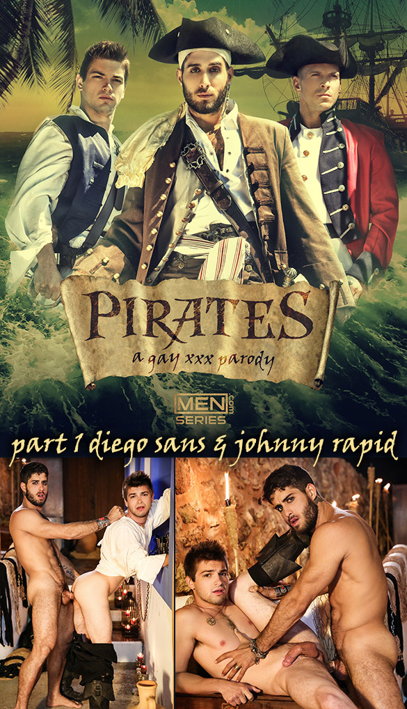 "Men.com: Diego Sans fucks Johnny Rapid in ""Pirates: A Gay XXX Parody, Part 1"""