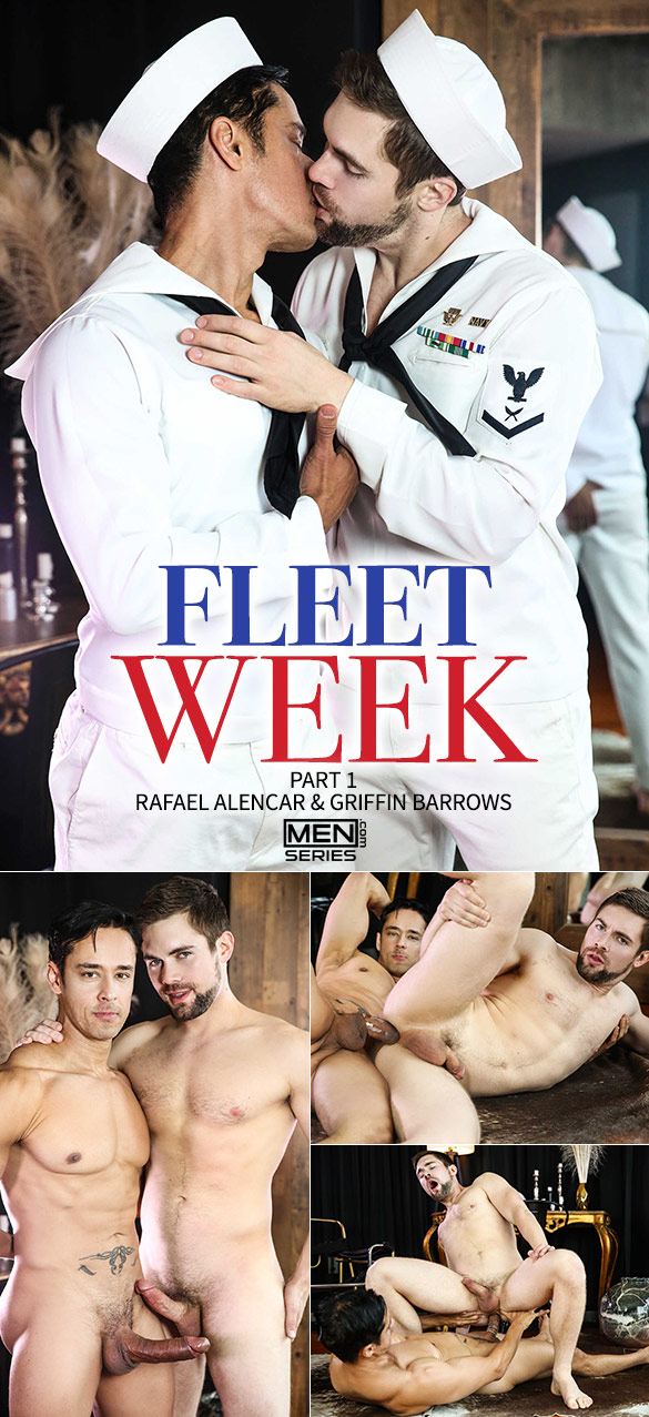 "Men.com: Big-dicked Rafael Alencar bangs Griffin Barrows in ""Fleet Week, Part 1"""
