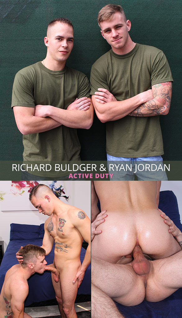 ActiveDuty: Ryan Jordan barebacks Richard Buldger