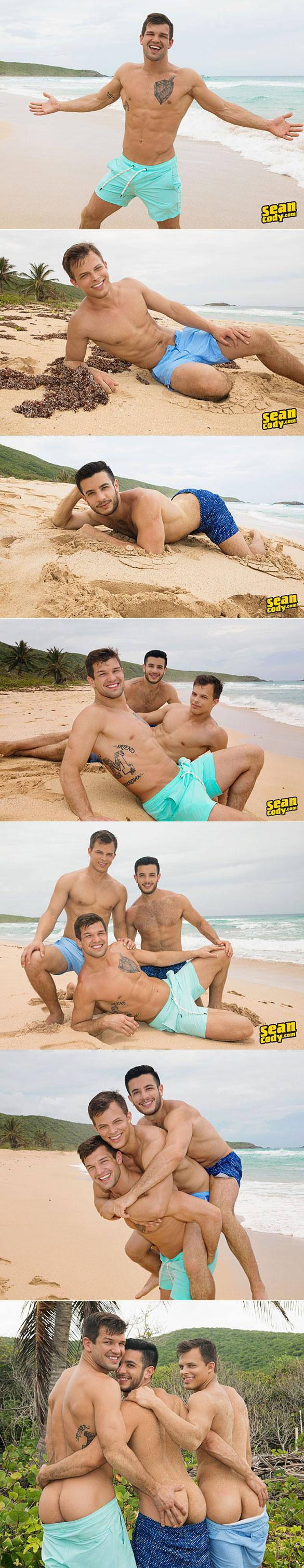 "Sean Cody: Brysen, Daniel, Jayden and Manny's wild and raw fourway in ""Puerto Rican Getaway, Day 4"""