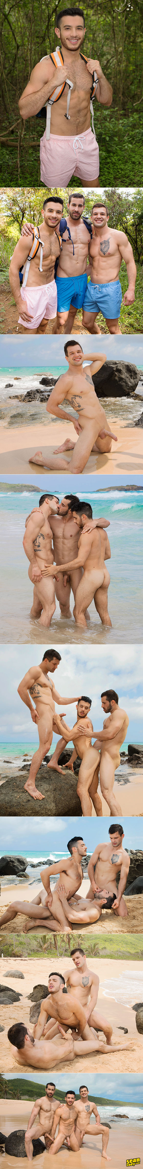 """Sean Cody: Brysen and Randy tag team Manny bareback in """"Puerto Rican Getaway, Day 2"""""""