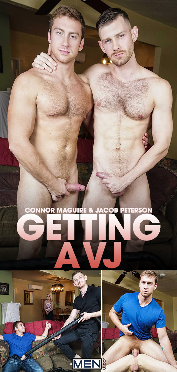 "Men.com: Connor Maguire fucks Jacob Peterson in ""Getting a VJ"""