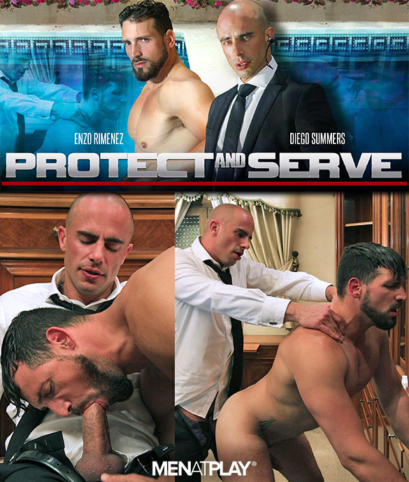 "MenAtPlay: Diego Summers fucks Enzo Rimenez in ""Protect and Serve"""