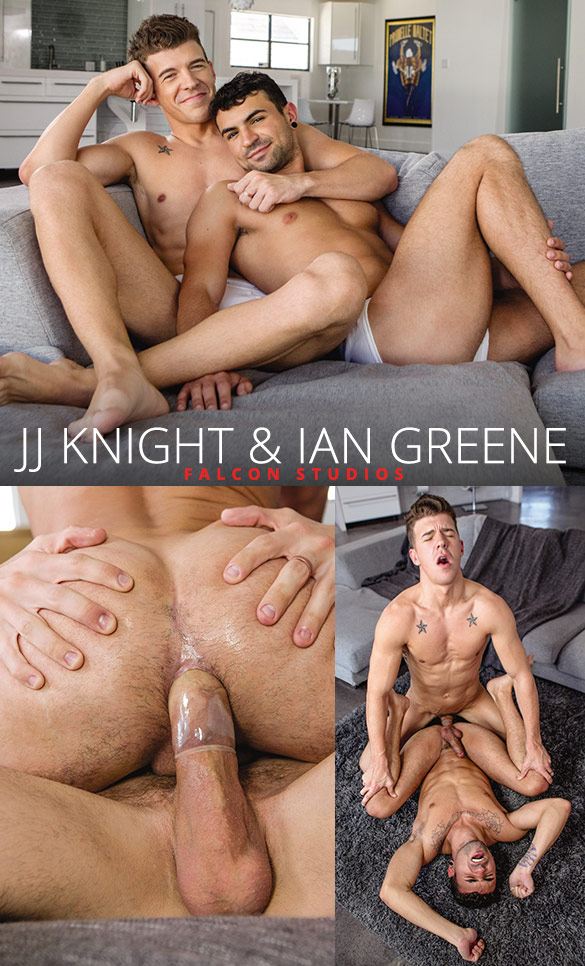 "Falcon Studios: Ian Greene rides JJ Knight's big dick in ""Intimate"""