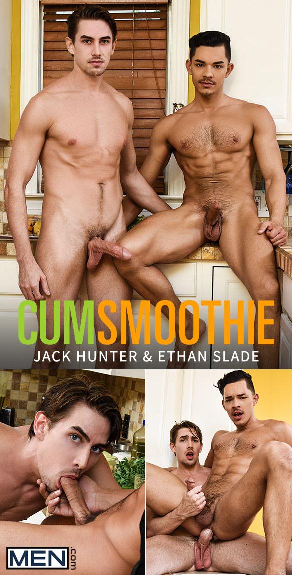 "Men.com: Ethan Slade rides Jack Hunter's big cock in ""Cum Smoothie"""