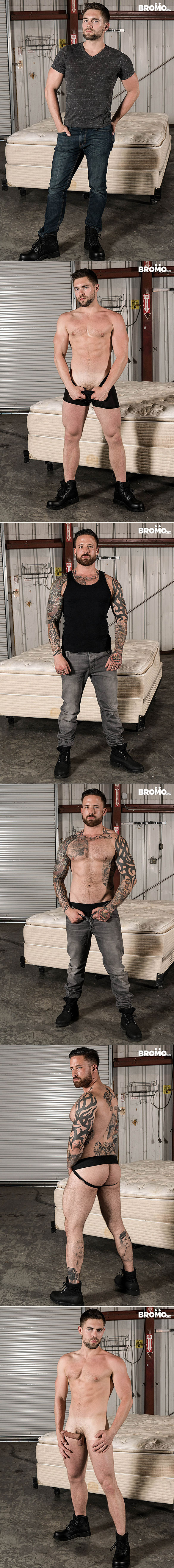 """Bromo: Jordan Levine bangs Griffin Barrows in """"Warehouse Chronicles: Spanked Raw"""""""