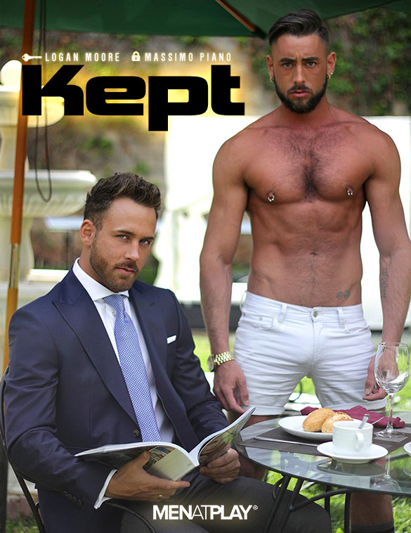 """MenAtPlay: Logan Moore and Massimo Piano fuck each other in """"Kept"""""""
