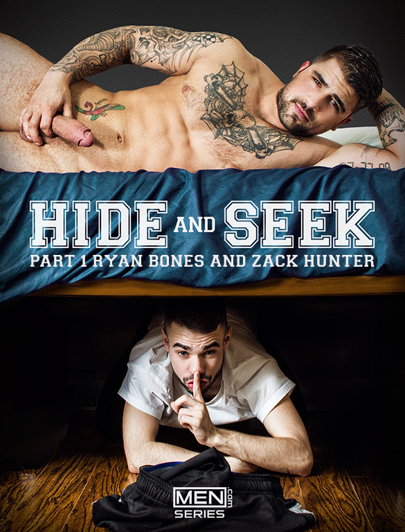 "Men.com: New Exclusive Ryan Bones fucks Zack Hunter in ""Hide and Seek, Part 1"" (Sneak Peek)"