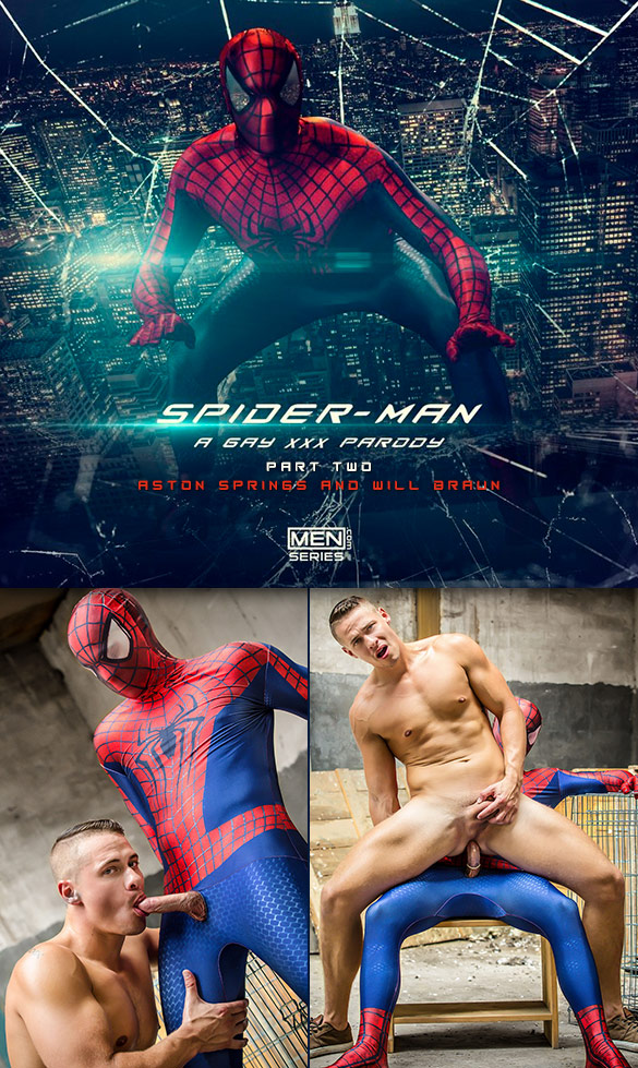 "Men.com: Will Braun fucks Aston Springs in ""Spiderman: A Gay XXX Parody, Part 2"""