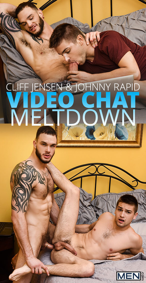 "Men.com: Cliff Jensen bangs Johnny Rapid in ""Video Chat Meltdown"""
