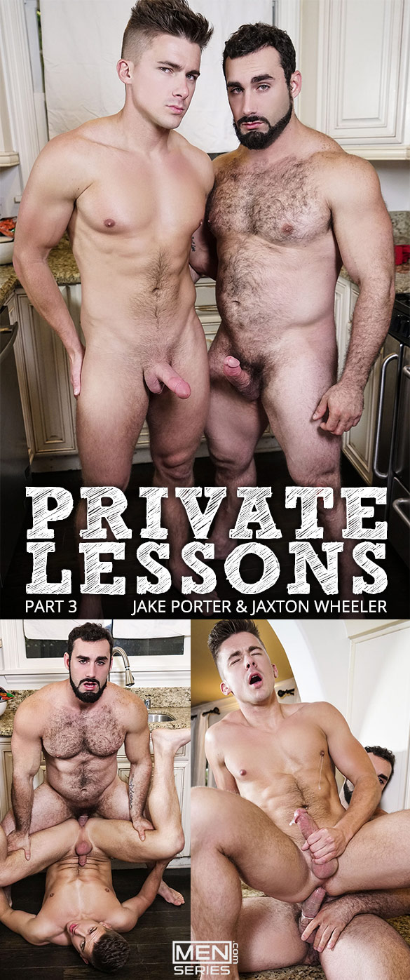 "Men.com: Jaxton Wheeler bangs Jake Porter in ""Private Lessons, Part 3"""