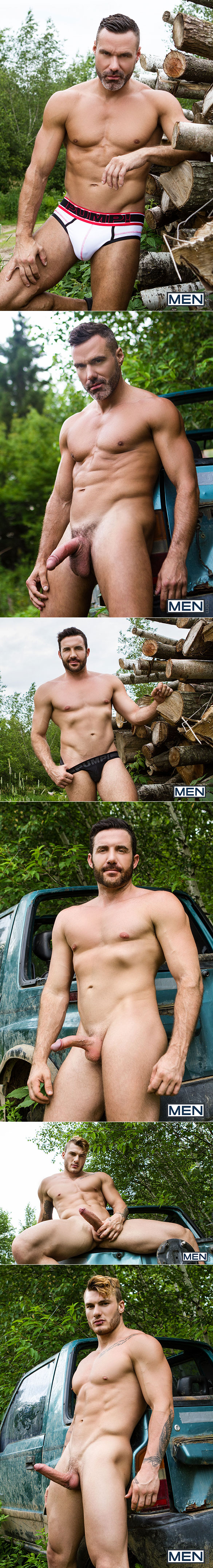 "Men.com: William Seed, Manuel Skye and Jessy Bernardo's hot outdoor threeway in ""Exposure, Part 2"""