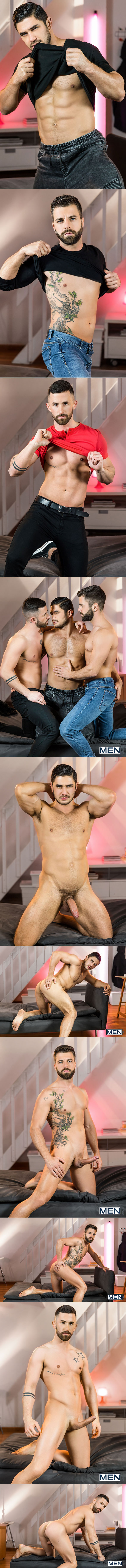 "Men.com: Dato Foland, Hector De Silva and Sunny Colucci's threesome in ""The Couple That Fucks Together, Part 2"""