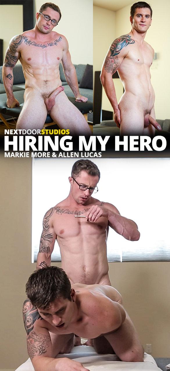 """Next Door Studios: Markie More fucks Allen Lucas bareback in """"Hiring My Hero"""""""