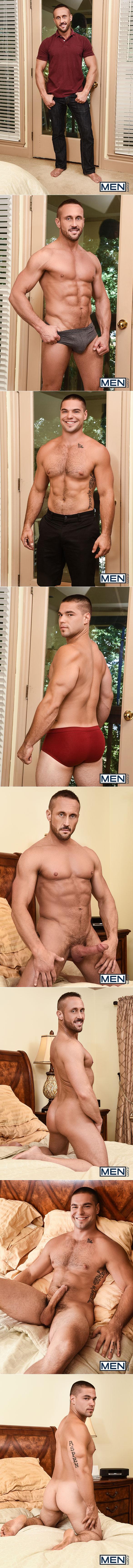 """Men.com: Aspen takes Myles Landon's thick cock in """"Daddy's Secret, Part 3"""""""