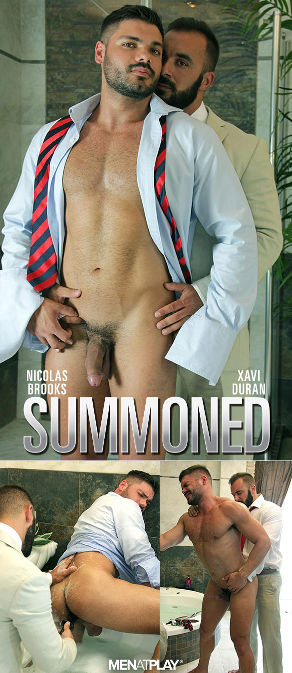 "MenAtPlay: Xavi Duran fucks Nikolas Brooks in ""Summoned"""