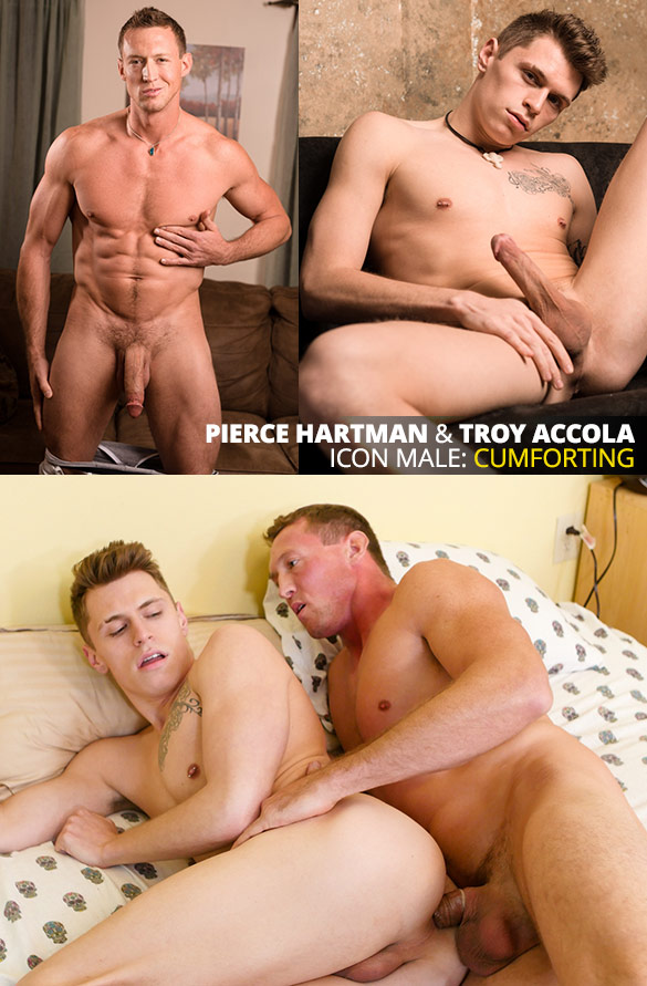 "IconMale: Big-dicked muscle stud Pierce Hartman tops Troy Accola in ""Age of Innocence"""
