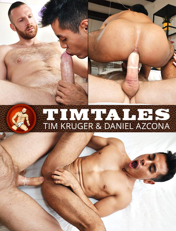 TimTales: Daniel Azcona rides Tim Kruger's thick cock