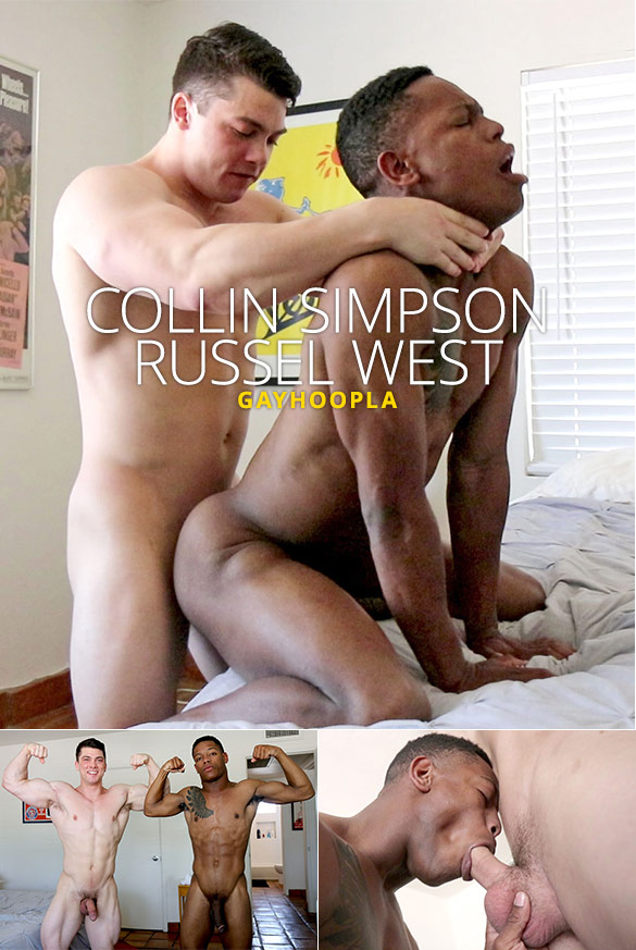 GayHoopla: Newcomer Russel West bottoms for Collin Simpson