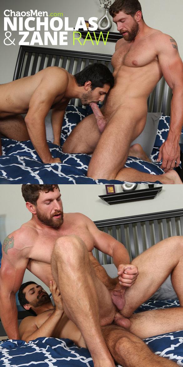 ChaosMen: Muscle hunk Zane rides Nicholas Duff's raw cock