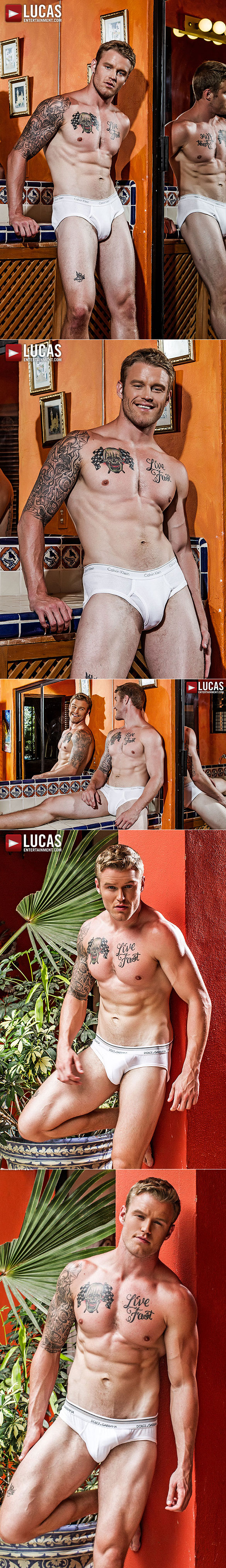 """Lucas Entertainment: Shawn Reeve rides Sean Xavier's enormous cock in """"Bareback Auditions 08: Fresh Additions"""""""