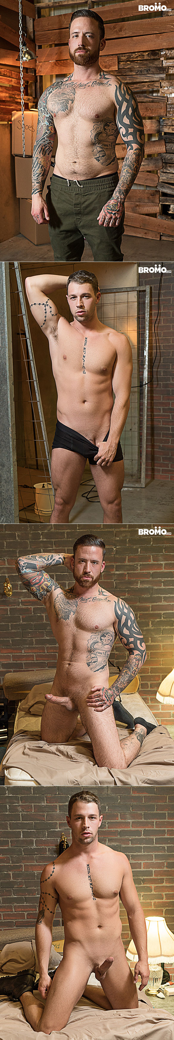 """Bromo: Casey Kole gets pounded raw by Jordan Levine in """"Bareback Inquisition, Part 4"""""""