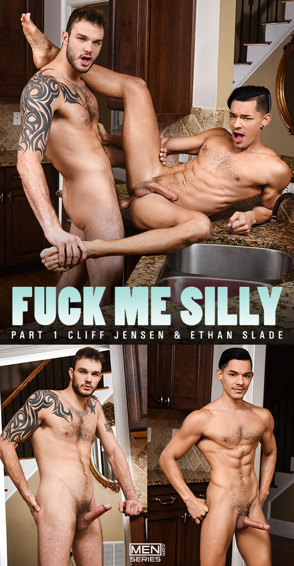 "Men.com: Cliff Jensen bangs Ethan Slade in ""Fuck Me Silly, Part 1"""