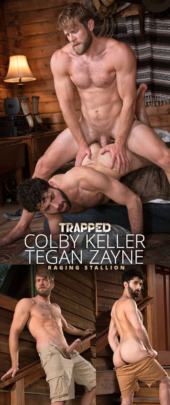 """Raging Stallion: Colby Keller bangs Tegan Zayne in """"Trapped"""""""