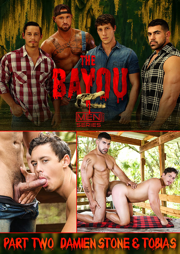 "Men.com: Muscle hunk Damien Stone fucks Tobias' beefy ass in ""The Bayou, Part 2"""