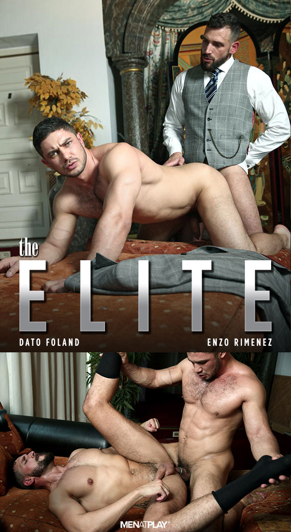 "MenAtPlay: Dato Foland and Enzo Rimenez flip fuck in ""The Elite"""