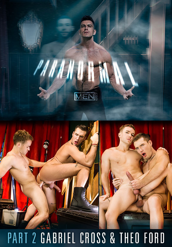 "Men.com: Gabriel Cross and Theo Ford flip fuck in ""Paranormal, Part 2"""