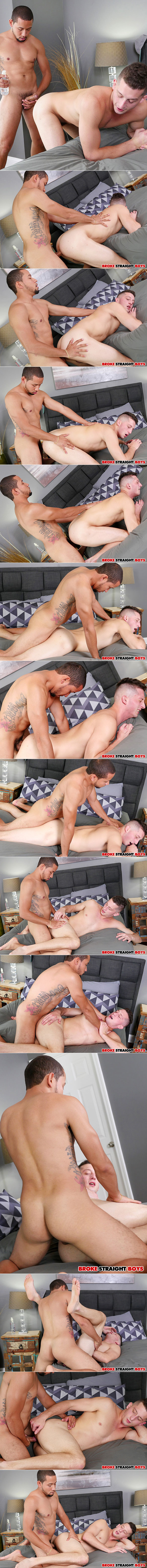 Broke Straight Boys: Newbie Hunter Lopez barebacks Drake Tyler