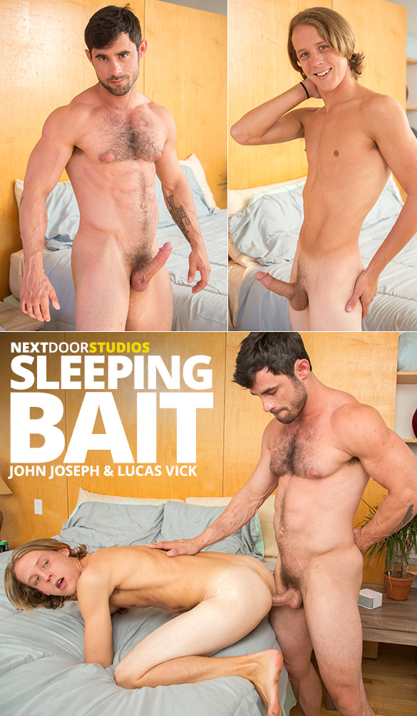 Next Door Studios: Lucas Vick fucks John Joseph's tight hole raw