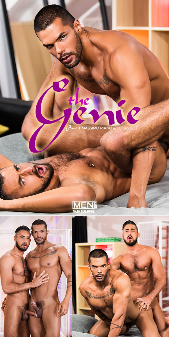 """Men.com: Massimo Piano and Lucas Fox fuck each other in """"The Genie, Part 1"""""""