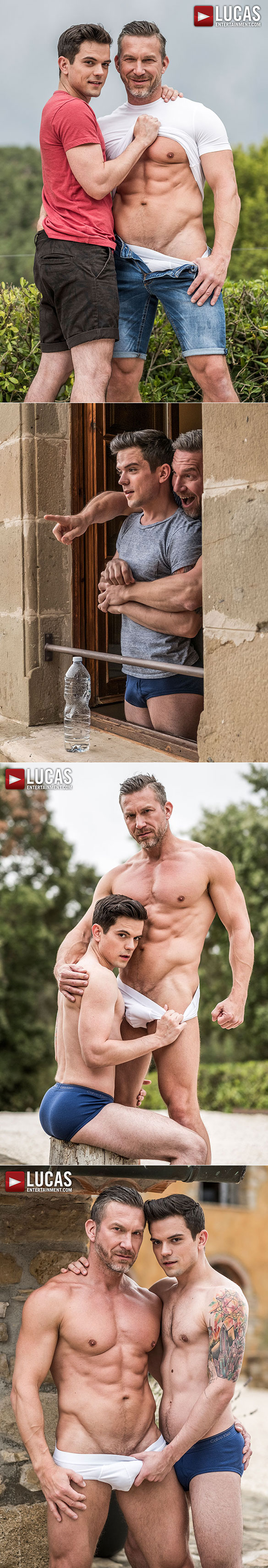 """Lucas Entertainment: Muscle daddy Tomas Brand fucks Dakota Payne raw in """"Must Seed TV: Fill More Guys"""""""