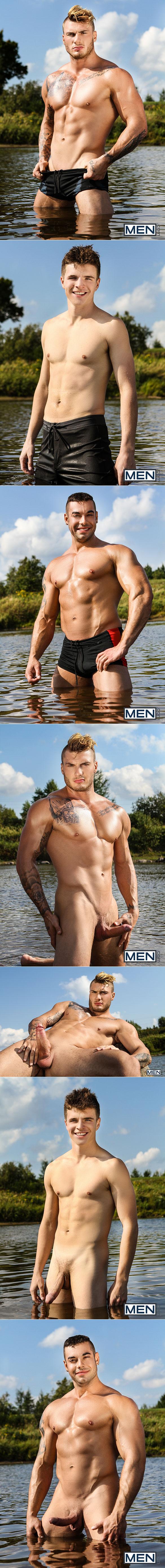 "Men.com: William Seed and Jack Kross tag team Bellamy Bradley in ""Skin Diving"""