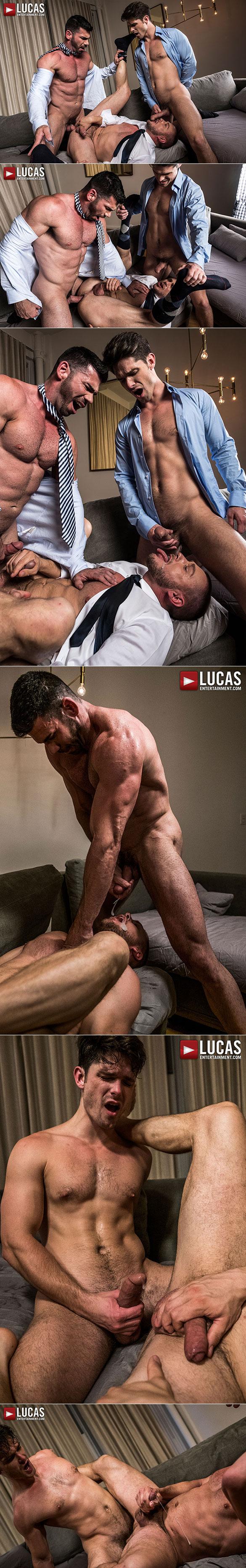 "Lucas Entertainment: Hans Berlin, Billy Santoro and Devin Franco's raw threesome in ""Gentlemen 21: Top Management"""