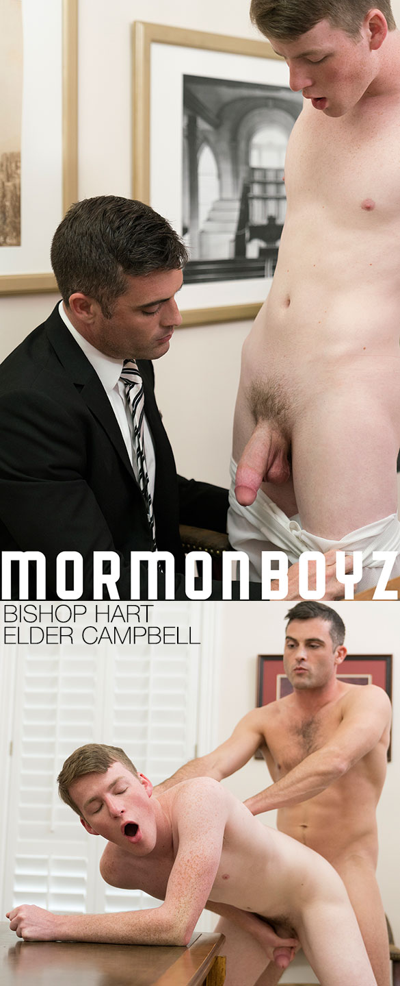 "MormonBoyz: Bishop Hart fucks Elder Campbell raw in ""The Calling"""