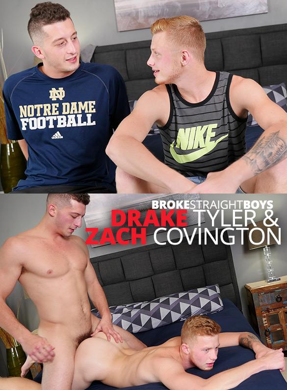 Broke Straight Boys: Drake Tyler bangs Zach Covington's tight ass raw