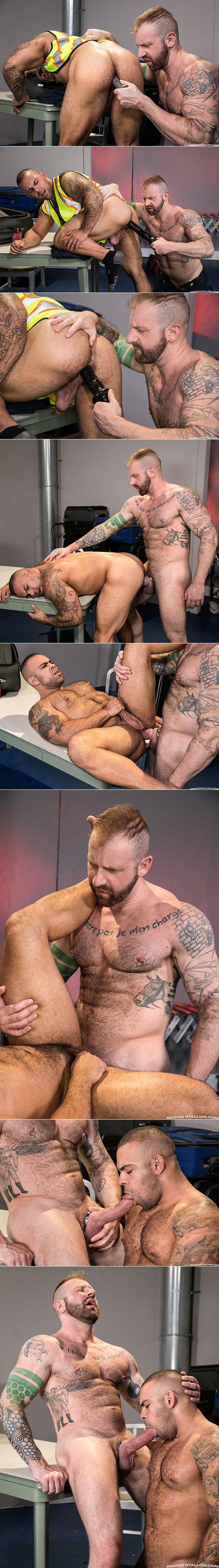 "Raging Stallion: Aleks Buldocek stretches Lorenzo Flexx's hole in ""TSA Checkpoint"""