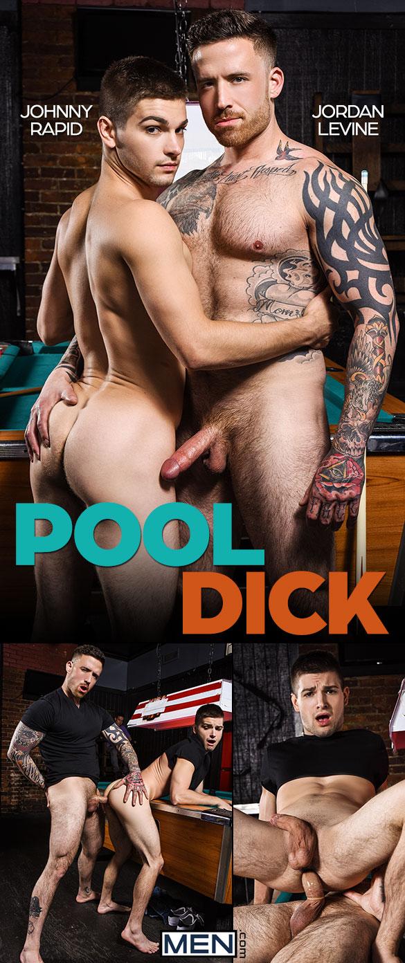 """Men.com: Jordan Levine bangs Johnny Rapid in """"Pool Dick"""""""