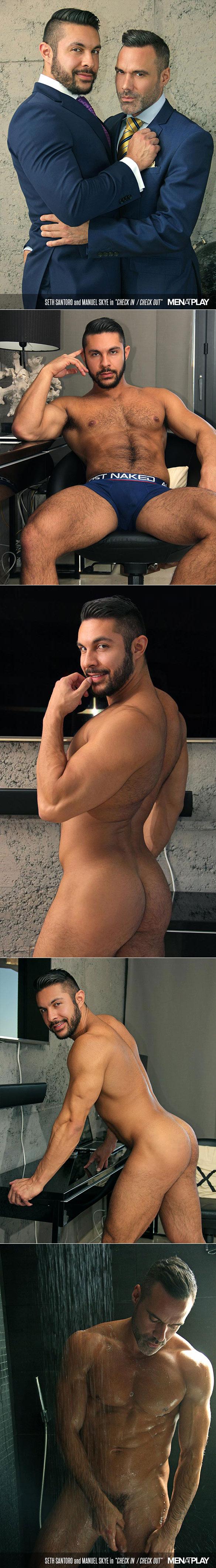 "MenAtPlay: Manuel Skye tops Seth Santoro in ""Check In / Check Out"""