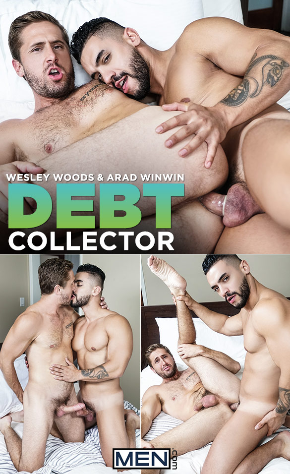 "Men.com: Arad Winwin fucks Wesley Woods in ""Debt Collector"""