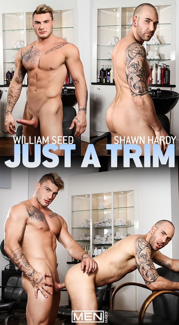 "Men.com: William Seed fucks Shawn Hardy in ""Just a Trim"""
