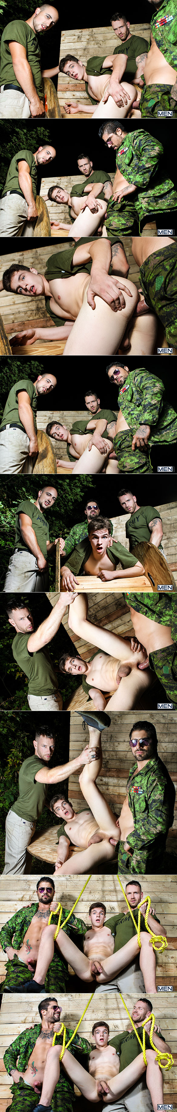 "Men.com: Ryan Bones fucks Bellamy Bradley in ""Battle Buddies, Part 1"""