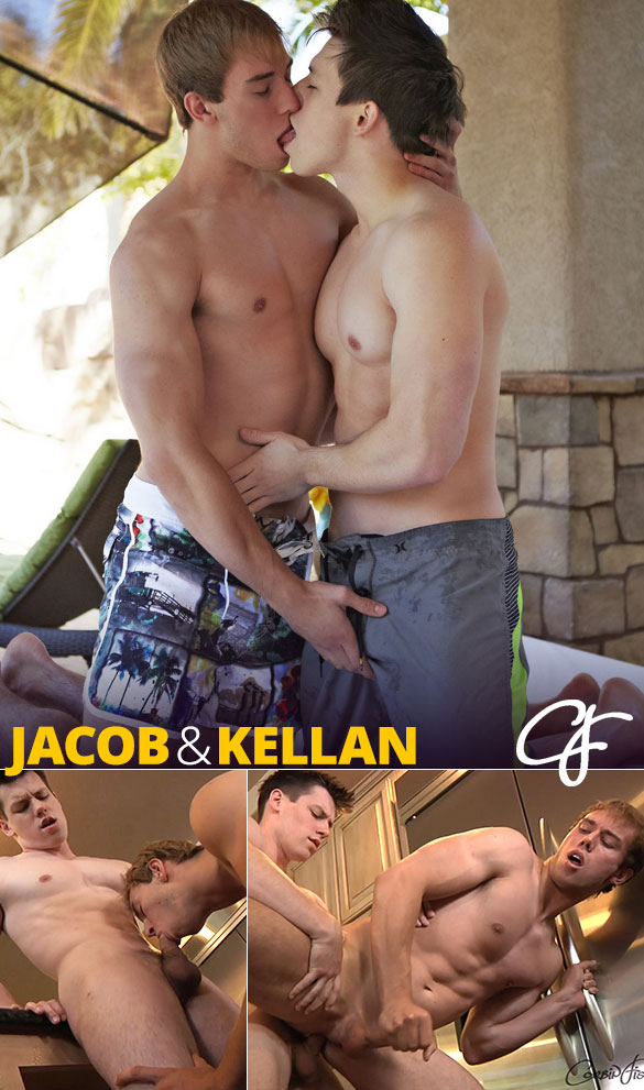 Corbin Fisher: Kellan barebacks Jacob