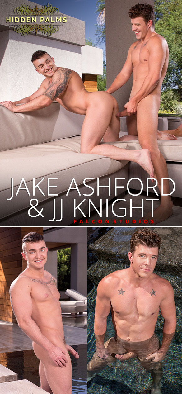 "Falcon Studios: Jake Ashford rides JJ Knight's big dick in ""Hidden Palms"""
