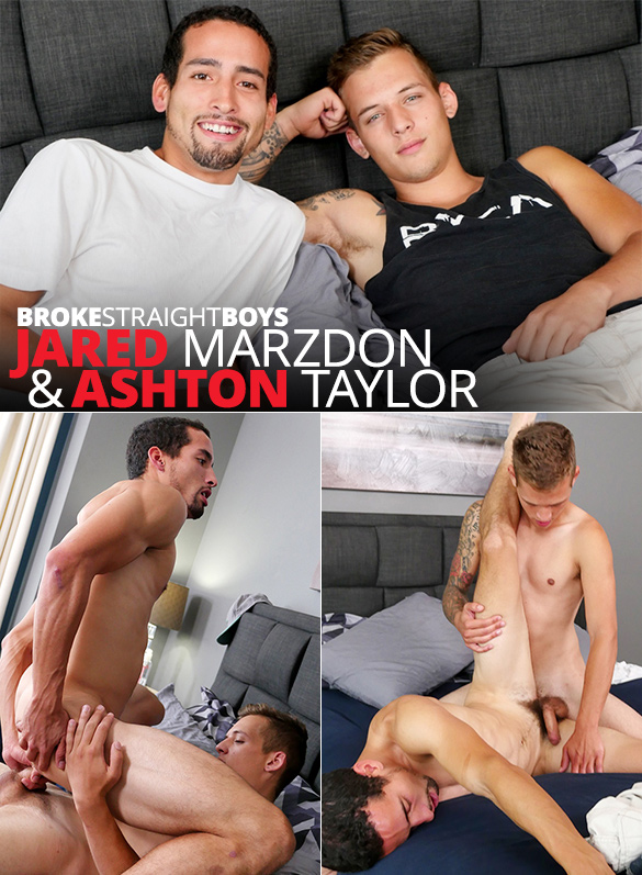 Broke Straight Boys: Ashton Taylor barebacks Jared Marzdon's tight ass