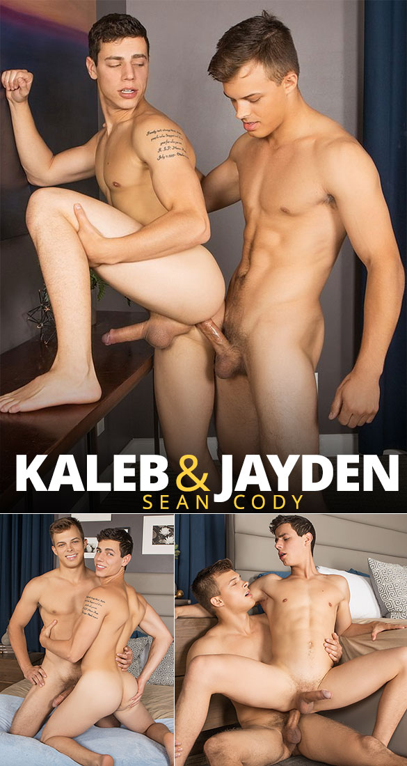 Sean Cody: Jayden pops Kaleb's ass cherry
