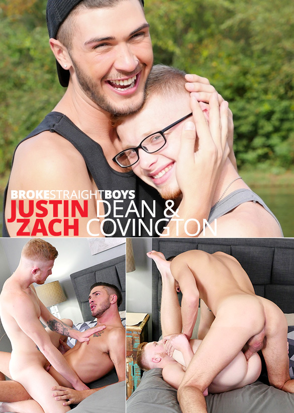 Broke Straight Boys: Justin Dean fucks Zach Covington bareback